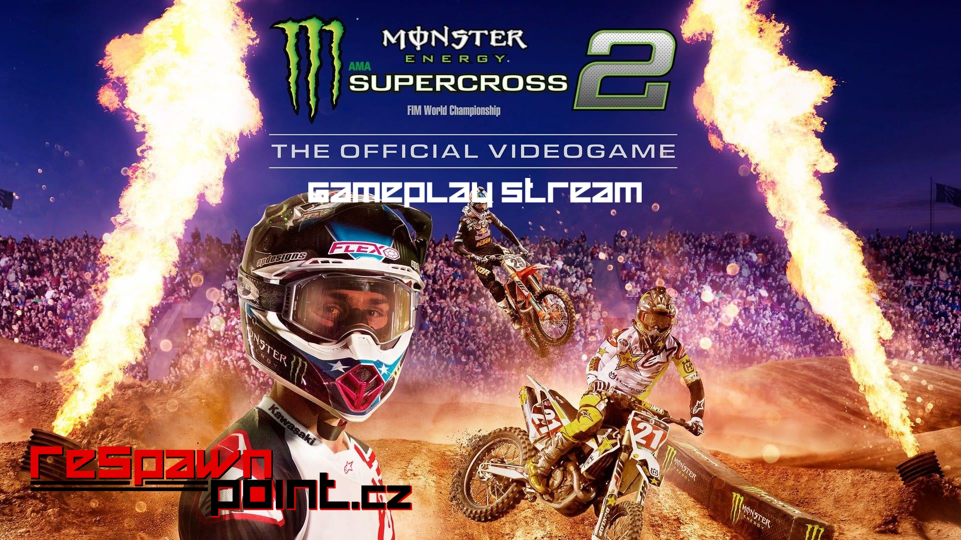 Monster Energy Supercross 2 – Gameplay Stream