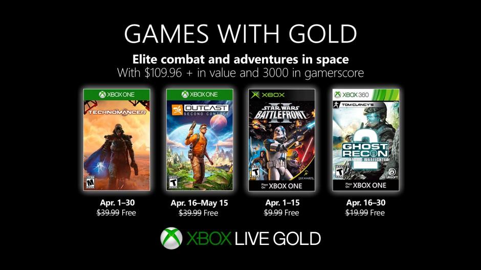 Podívejte se na dubnové hry pro Xbox Live Gold