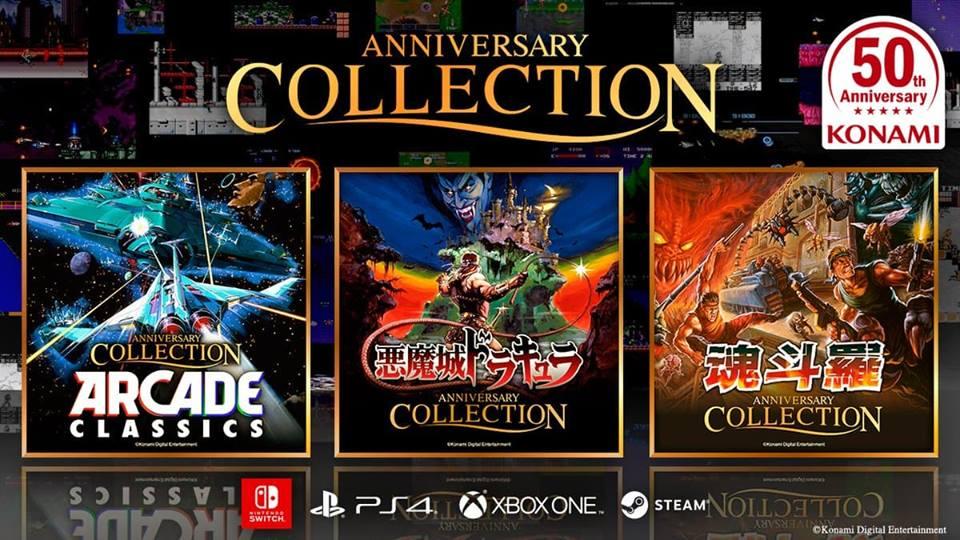 Konami oznámilo trojici výročních kolekcí svých her
