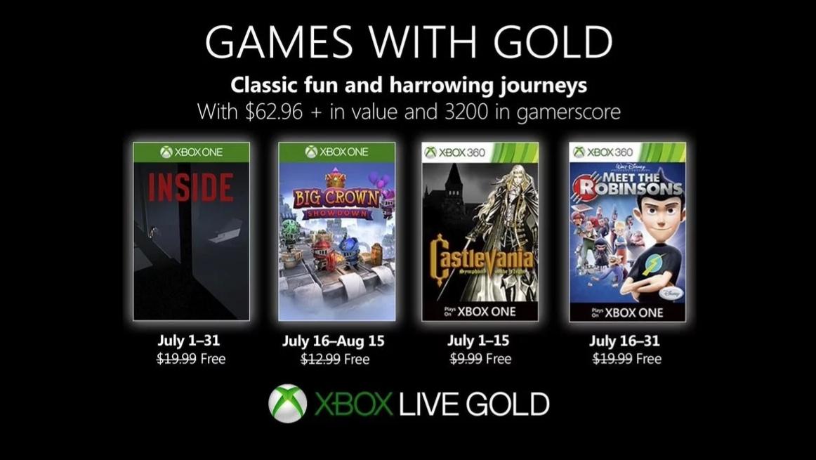Červencové hry pro Games with Gold