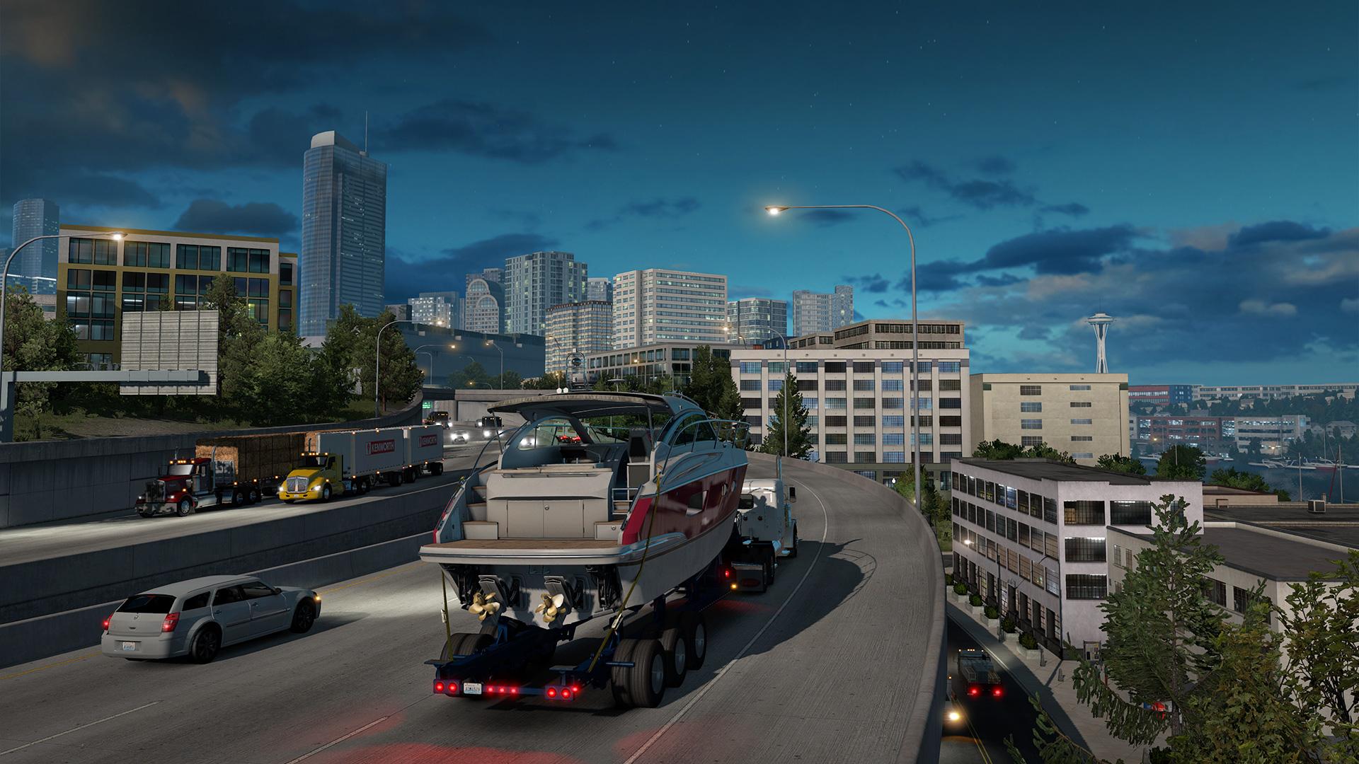 American Truck Simulátor otevře příští týden hranice státu Washington
