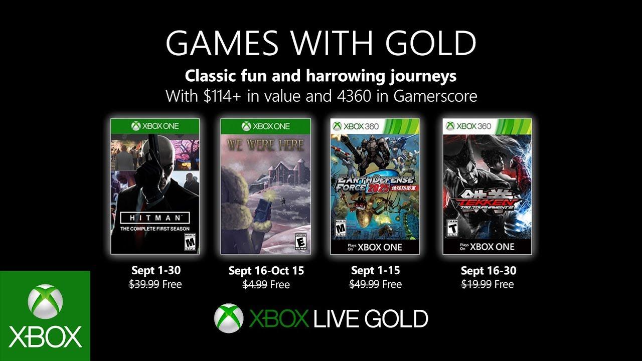 Oznámeny hry pro Xbox Live Gold na měsíc září