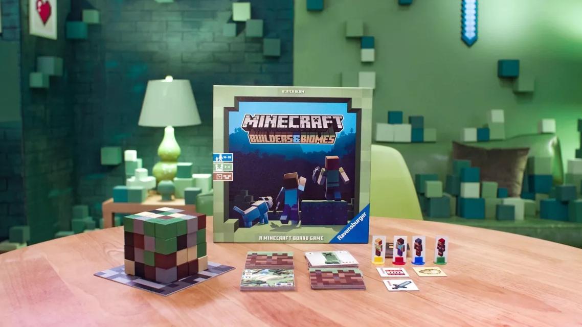 Představena desková hra Minecraft: Builders & Biomes