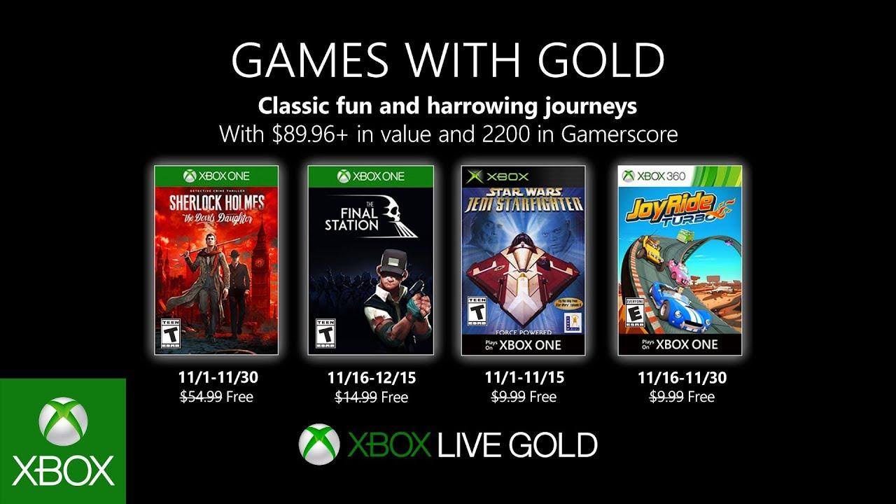Odhaleny listopadové hry pro Games with Gold