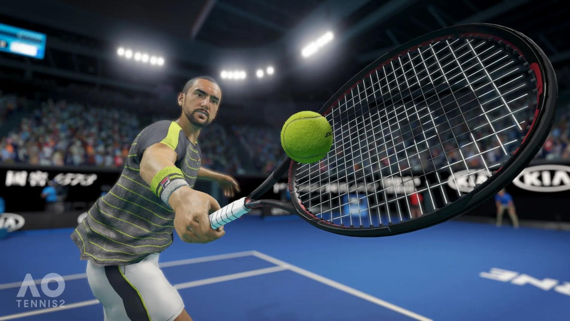 Oznámena sportovní hra AO Tennis 2
