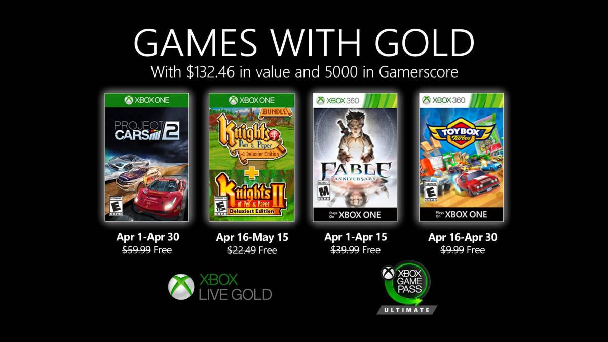 Oznámeny dubnové hry Games with Gold