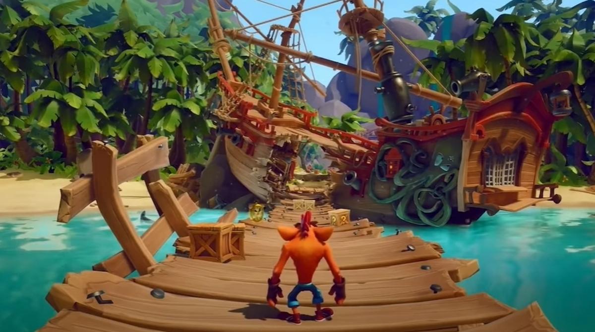 Crash Bandicoot 4 ukazuje pirátský level + možný počet Levelů ve hře