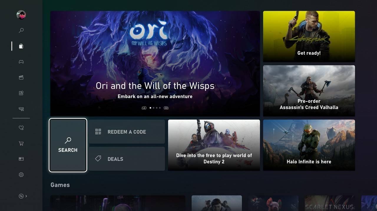 Představen nový design Microsoft Store pro konzole Xbox