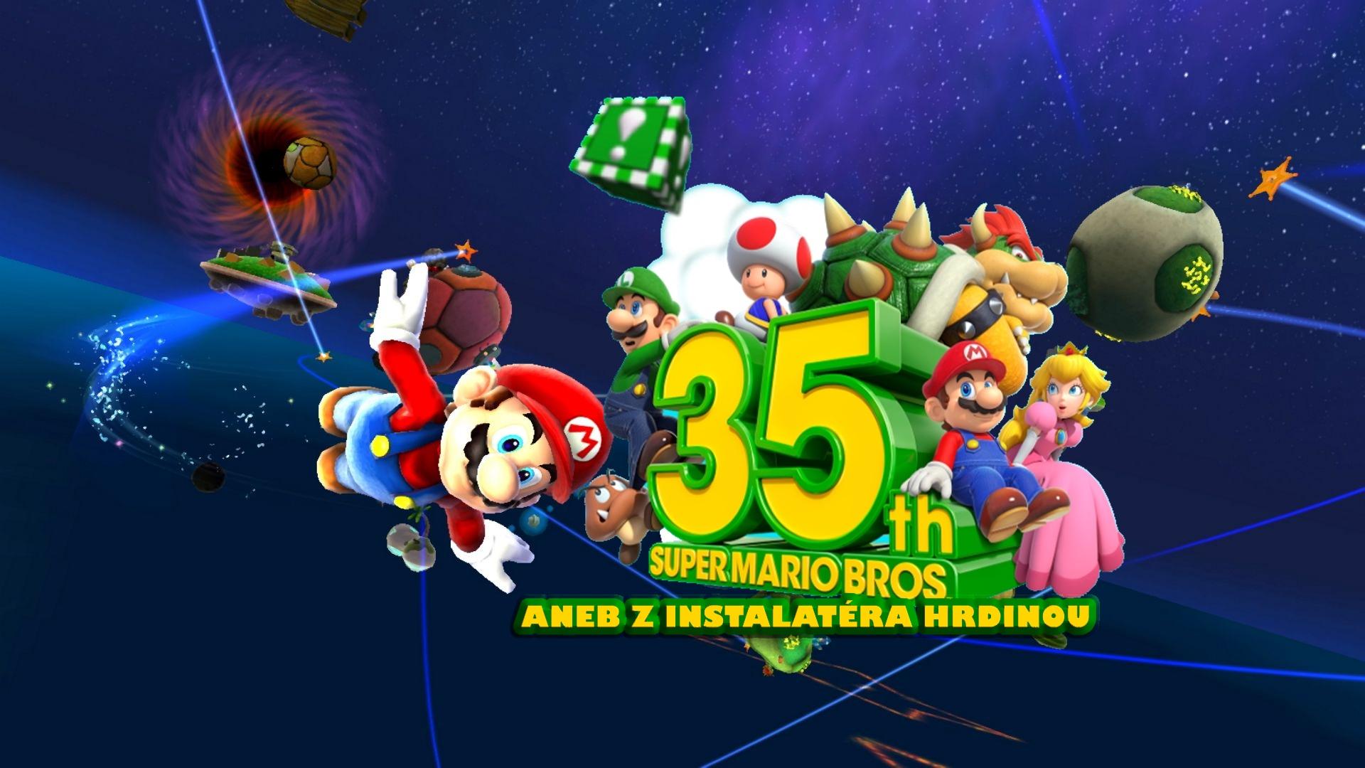 35. výročí Super Mario Bros. aneb od instalatéra k hrdinovi