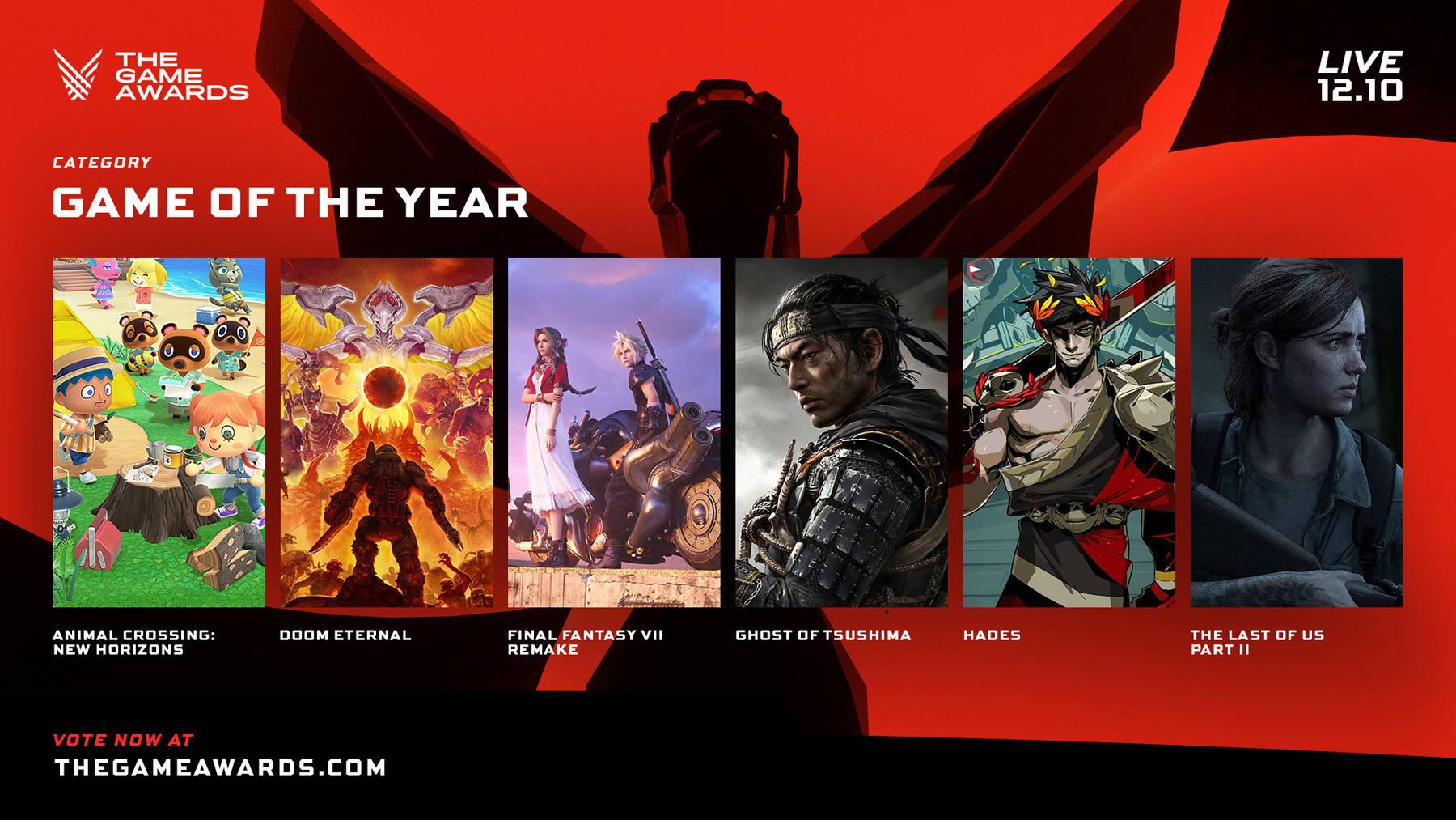 Zveřejněny nominace na The Game Awards 2020
