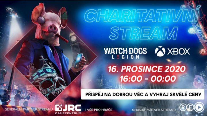 Charitativní stream s hrou Watch Dogs Legion a konzolí Xbox
