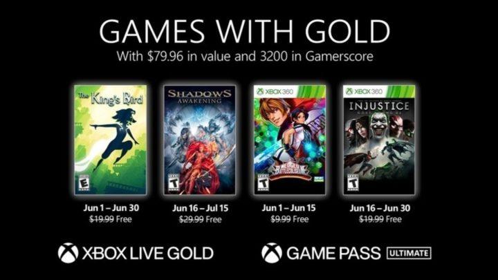 Zveřejněny Games with Gold na červen (2021)