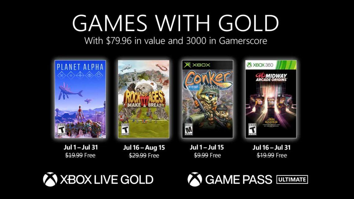 Známe tituly Games with Gold pro měsíc červenec (2021)