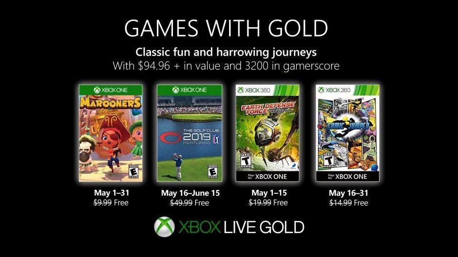 Oznámena květnová nabídka pro Games with Gold