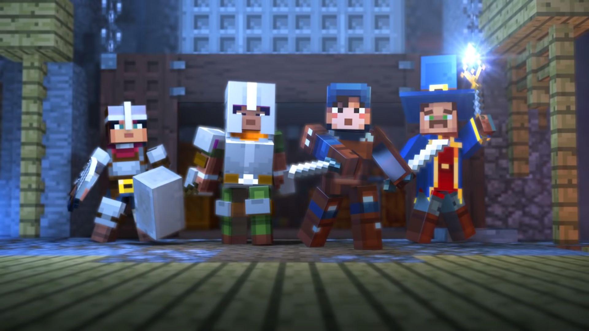 Minecraft Dungeons se ukázal v úvodním filmečku