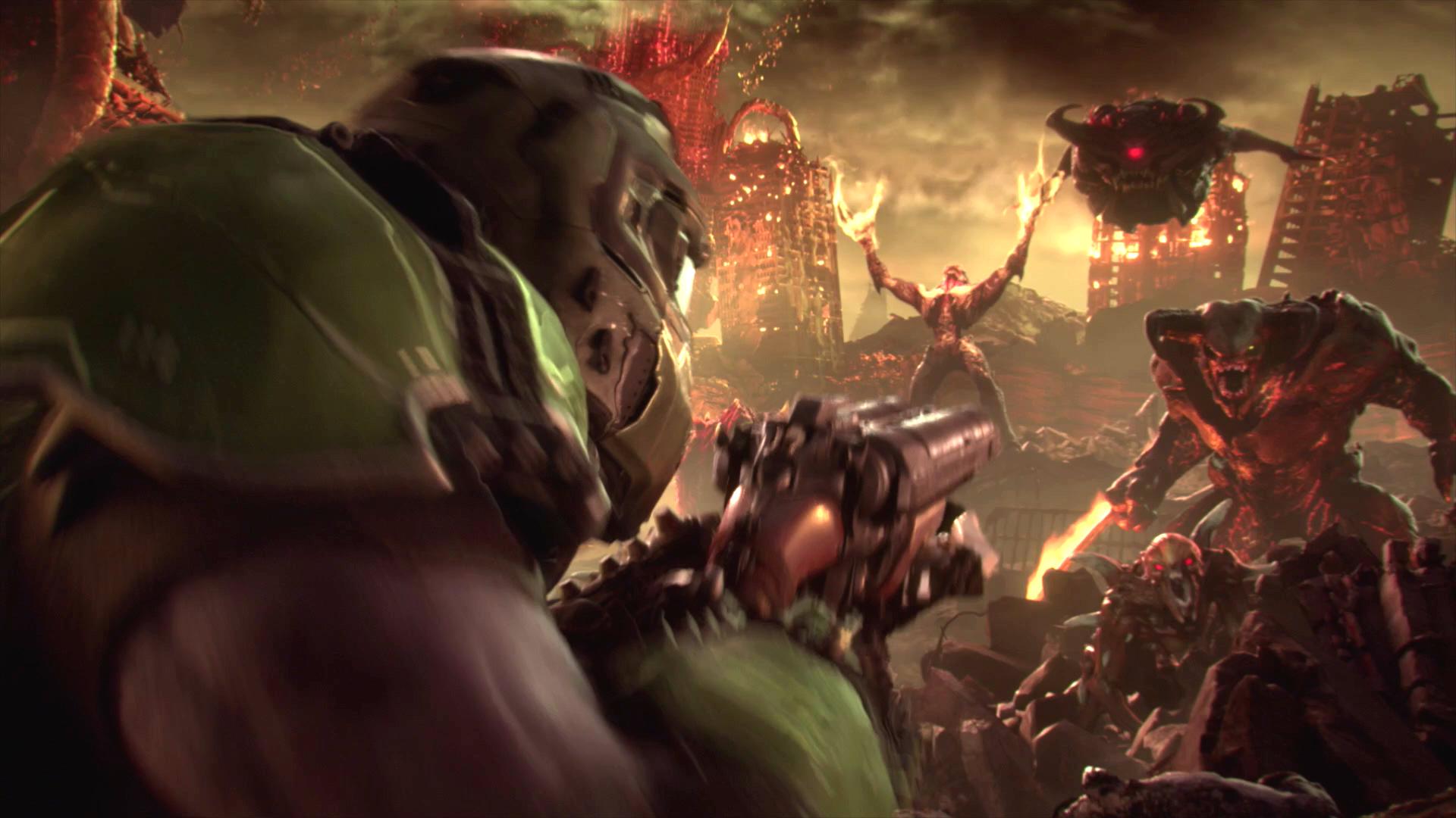 DOOM Eternal se ukazuje v řadě záběrů ze hry