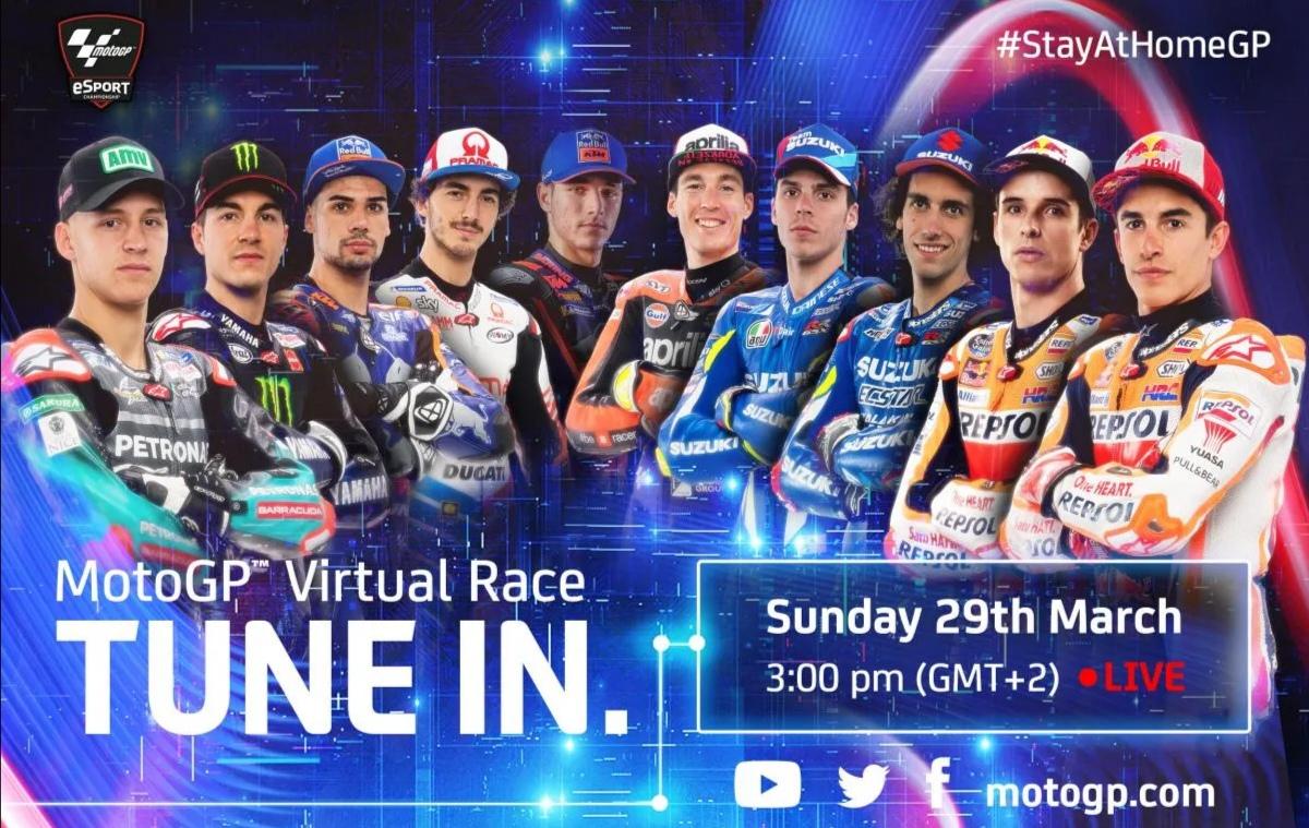 MotoGP organizuje virtuální závody se skutečnými závodníky v MotoGP 19. První závod již zítra