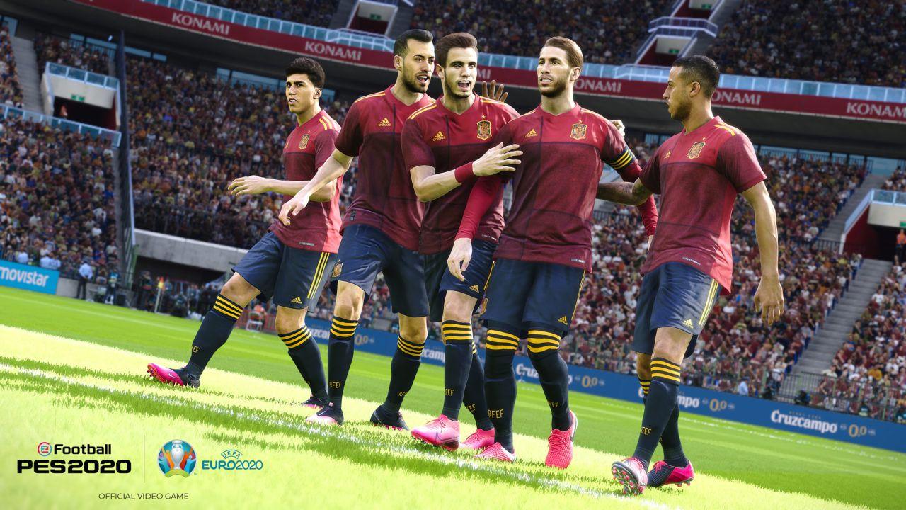 eFootball PES 2020 dostane bezplatný update UEFA Euro 2020