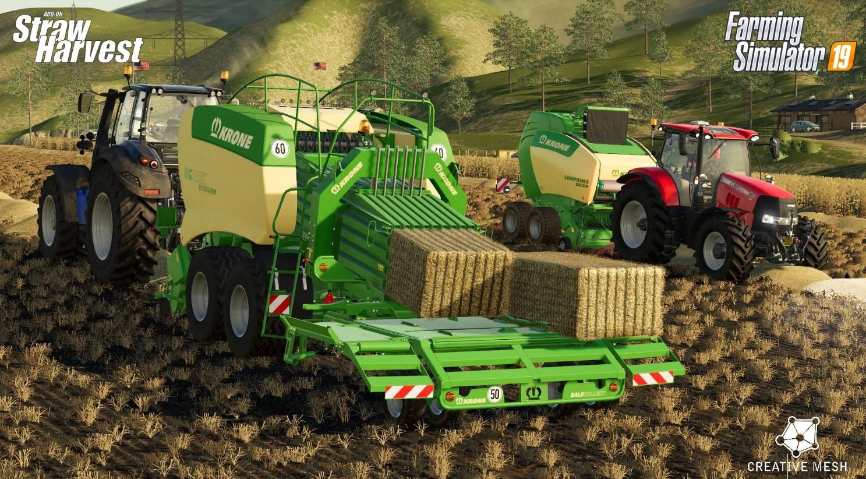 Farming Simulator 19 dostal zdarma rozšíření Straw Harvest