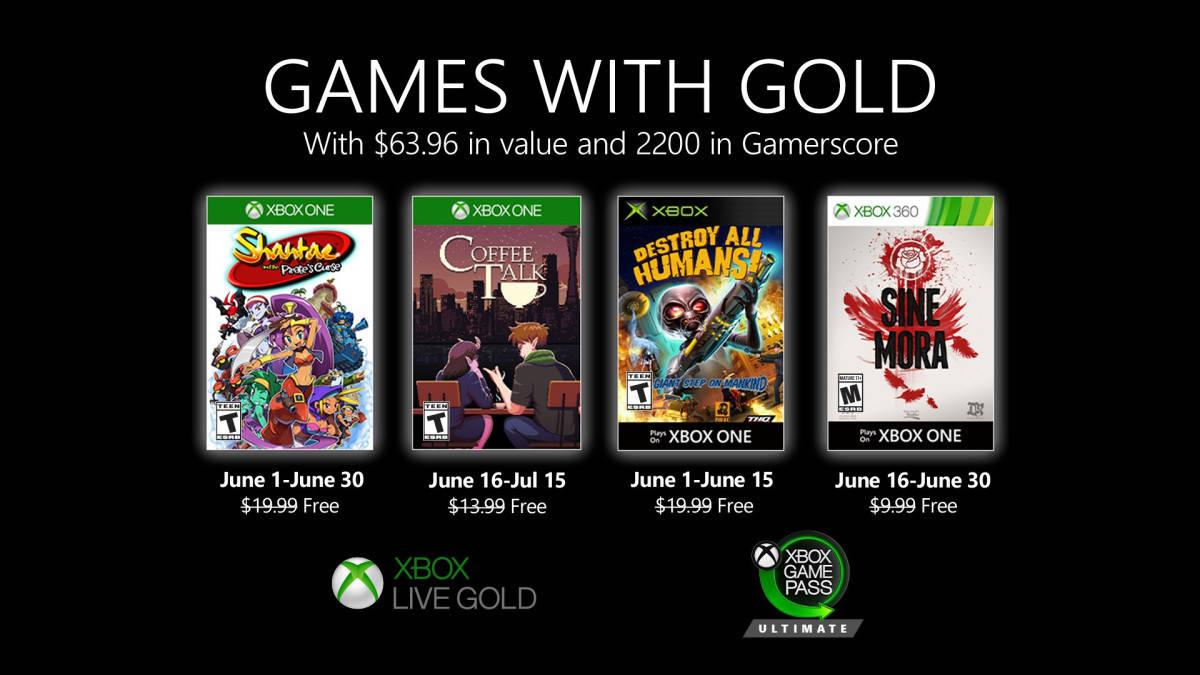 Oznámeny červnové hry pro Xbox Live Gold