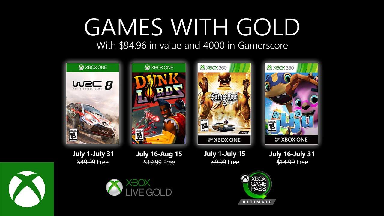Představena červencová nabídka Games with Gold