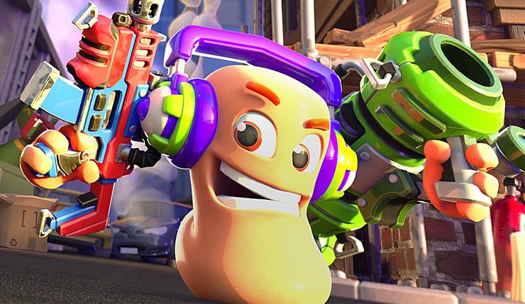 Oznámena hra Worms Rumble