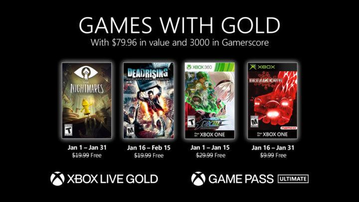 Odhalena nabídka Games with Gold na Leden 2021