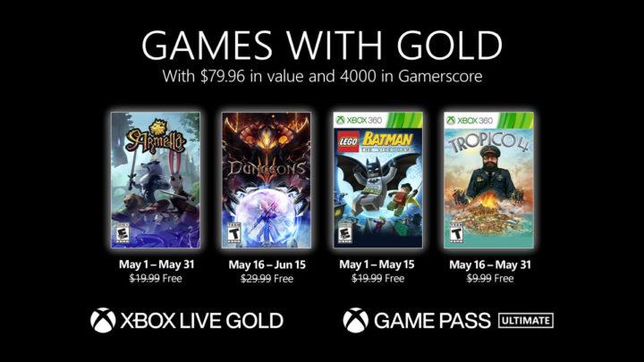 Oznámeny květnové hry pro Games with Gold (2021)