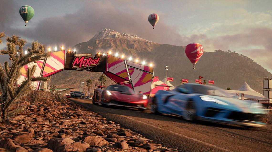 Sledujte porovnání zobrazovacích režimů ve hře Forza Horizon 5 na XSX